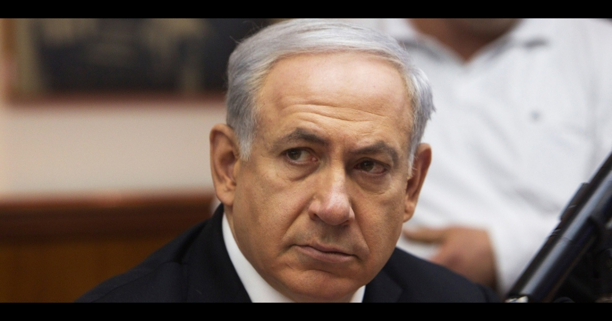 Israeli Prime Minister Benjamin Netanyahu presides over his weekly cabinet meeting on March 11, 2012 in Jerusalem.</p>