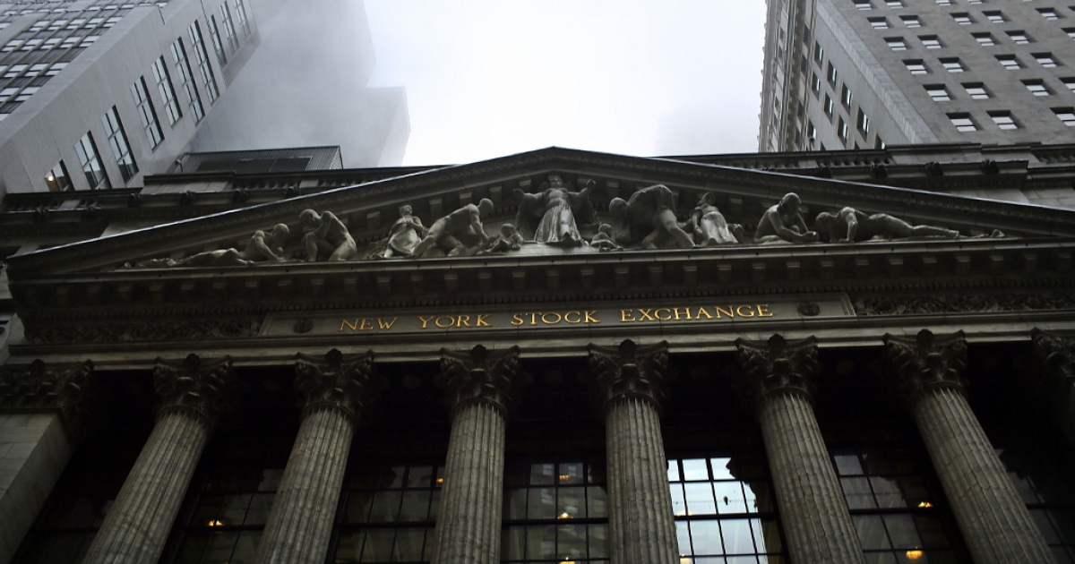 The New York Stock Exchange Dec. 10, 2012 in New York City, New York.</p>