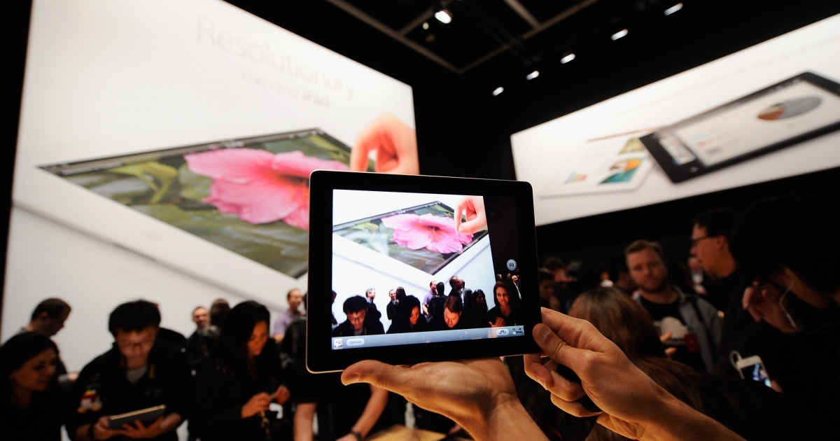 Apple unveiled the new iPad in San Francisco, Calif. on March 7, 2012. It is Apple's first product release following the death of Steve Jobs.</p>