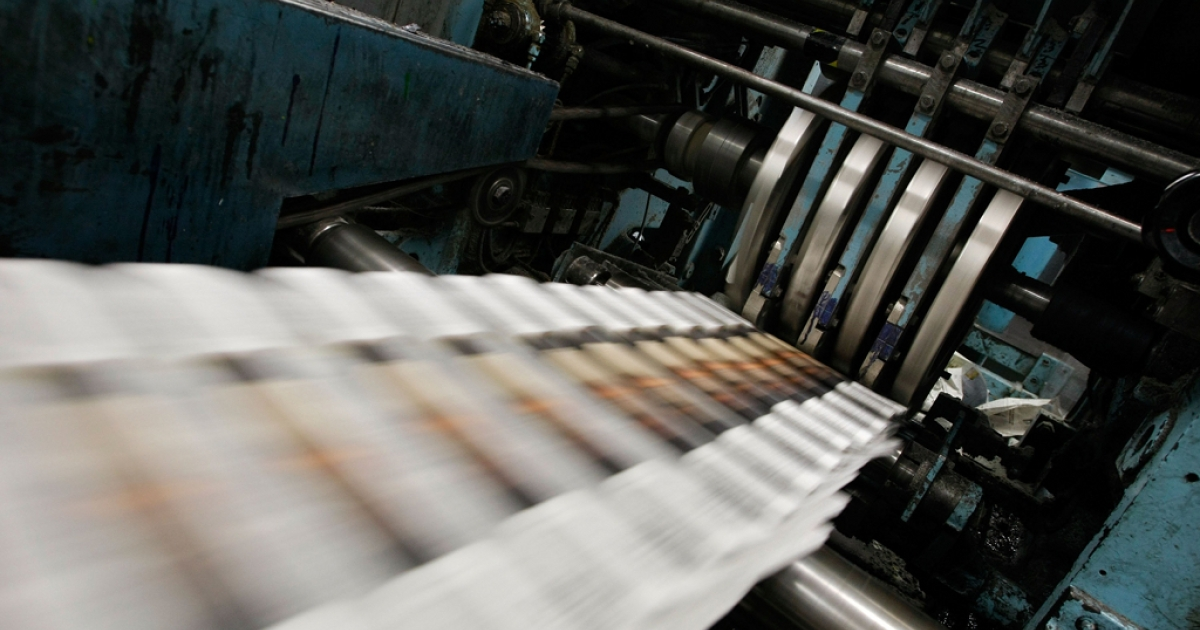 Tumbling advertising revenues and shrinking readerships have fed the decline of print media.</p>