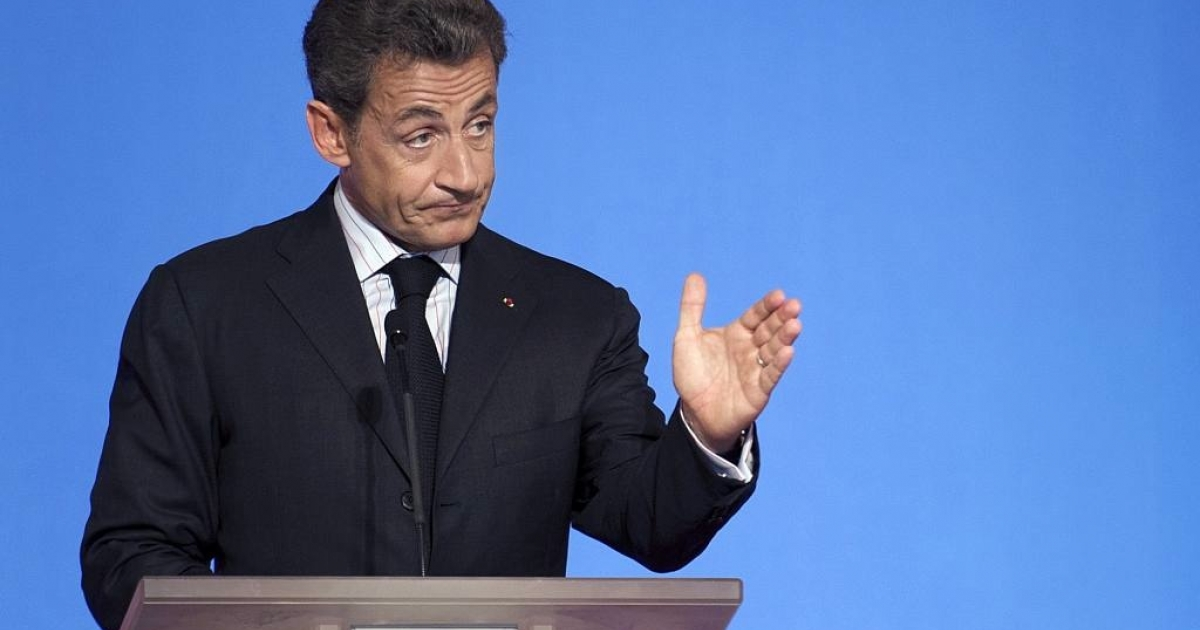 French President Nicolas Sarkozy delivers a speech on June 27, 2011 during his fourth press conference at the Elysee Palace where he  announced that France would invest 1 billion euros in atomic power.</p>
