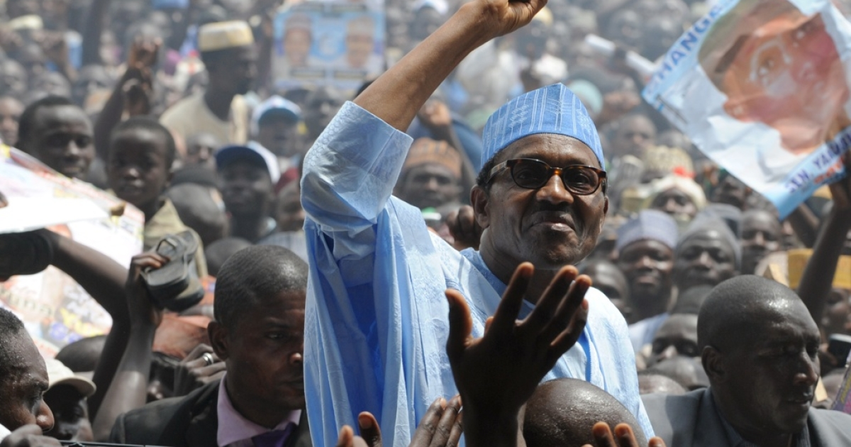 Retired Nigerian General Muhammadu Buhari announced that he may run for president again in 2015. Here Buhari is campaigning in the 2011 election, which he lost to President Goodluck Jonathan.</p>