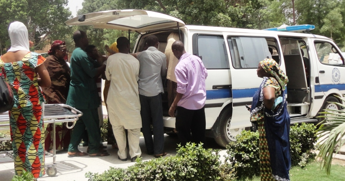 A seriously injured victim of a shooting is taken out from an ambulance outside the emergency unit at the Aminu Kano Teaching Hospital, in northern Nigerian city of Kano, where christian worshippers were killed and others seriously injured in attacks on two church services on April 29, 2012. The attack left at least 16 people dead and 22 people seriously injured.</p>