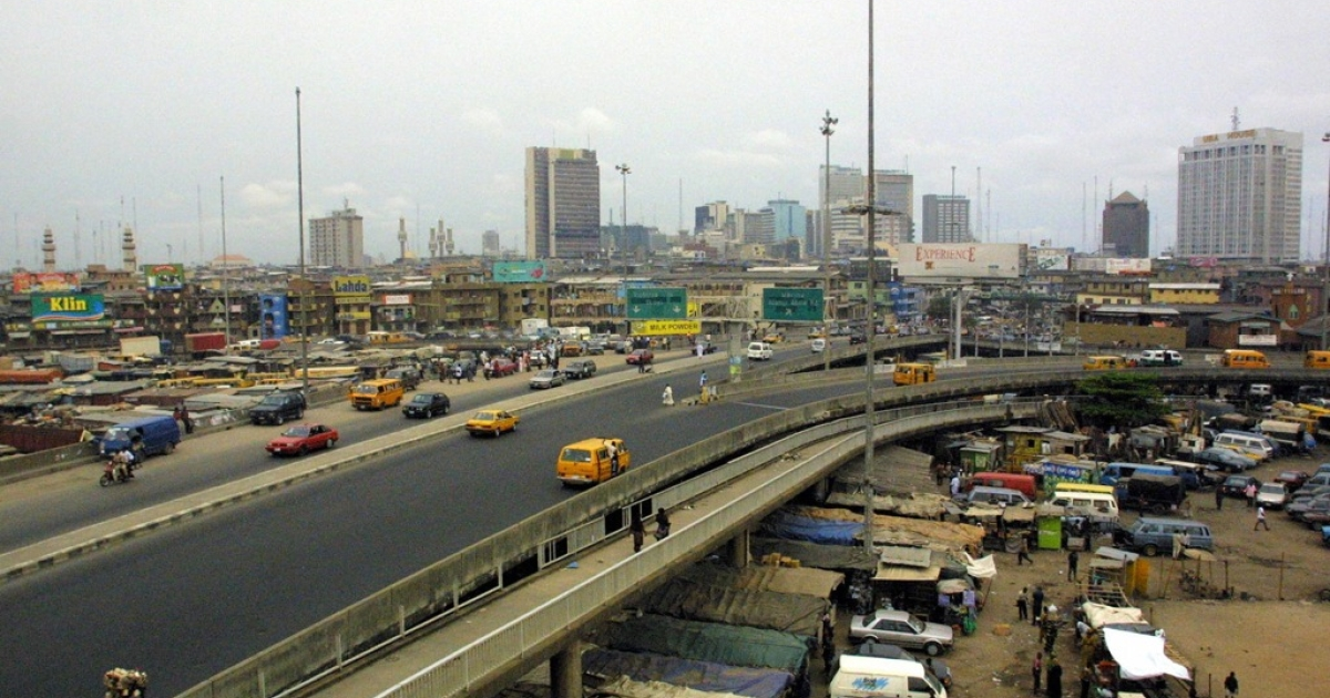 Skyscrapers dot the skyline of the Nigerian capital of Lagos.</p>