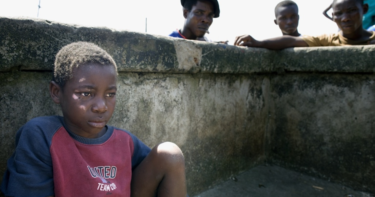 Many children are abandoned, tortured and killed because they are said to be witches. Here is an abandoned, maltreated and wounded boy living as a child-witch on the streets of the small fishing village Ibaka in the Niger Delta.</p>