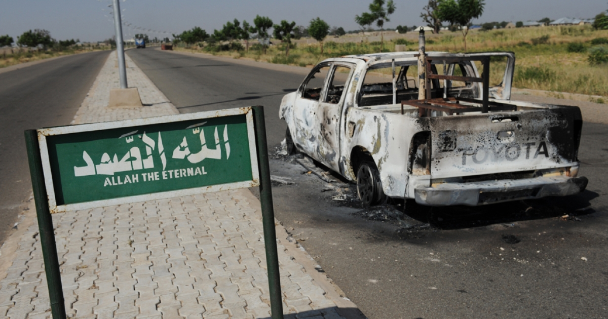 In November, a police patrol pick-up truck in Damaturu was struck by a bomb that the Islamist group, Boko Haram, claimed responsibility for attacking.</p>