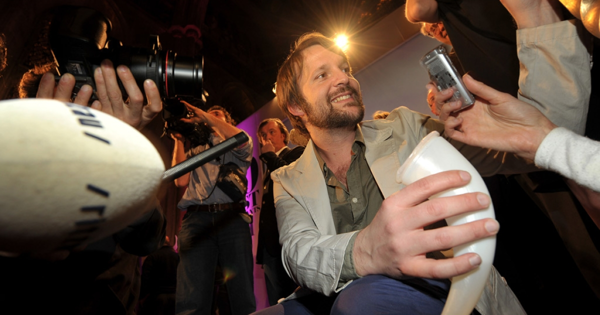 Chef Rene Redzepi of Danish restaurant Noma speaks to the media after winning first place at the S.Pellegrino 'World's 50 Best Restaurants Awards 2011', in central London, on April 18, 2011.</p>