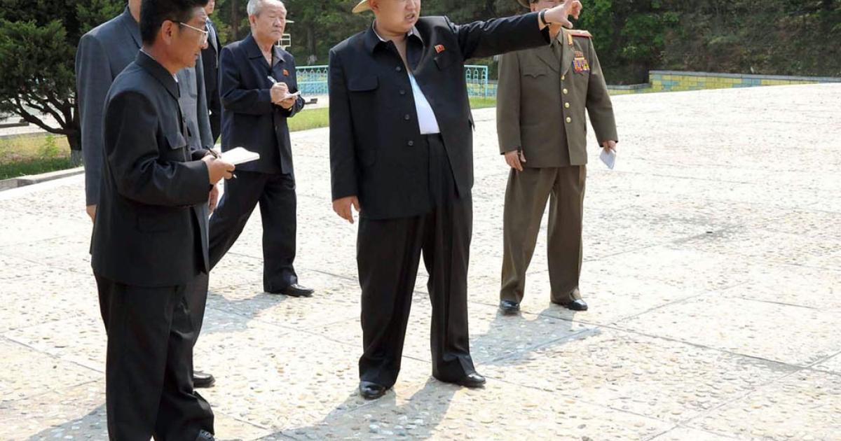 North Korean leader Kim Jong Un inspects the Mangyongdae Funfair amusement park in Pyongyang.</p>