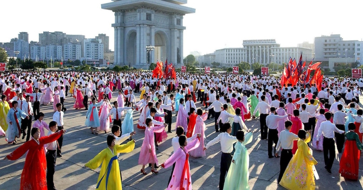 In this photo released by Korean Central News Agency via Korean News Service, North Korean youths and students dance to celebrate Kim Jong-Il. The videos and images that leave North Korea are carefully monitored by the government.</p>