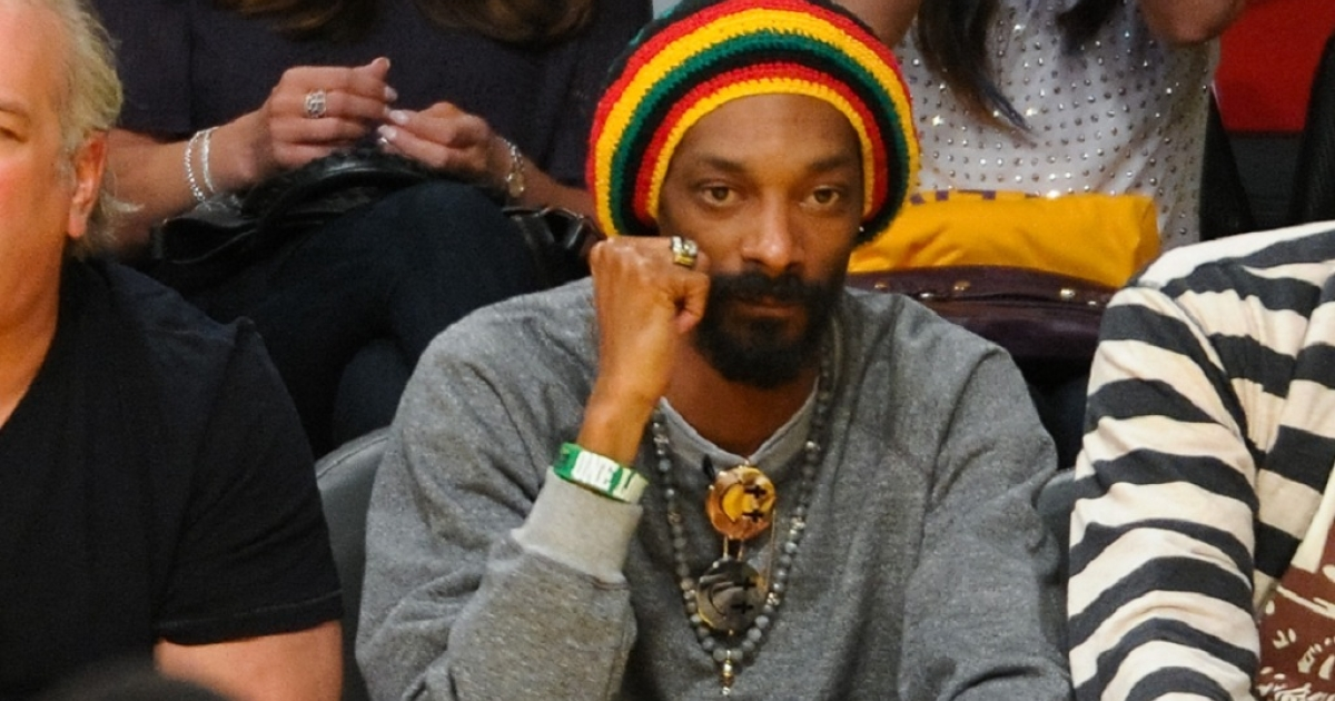 Snoop Dogg, pictured here at the LA Lakers and Oklamhoma City Thunder game on May 18, was stopped at an airport in Norway reportedly carrying a small amount of marijuana and too much cash.</p>