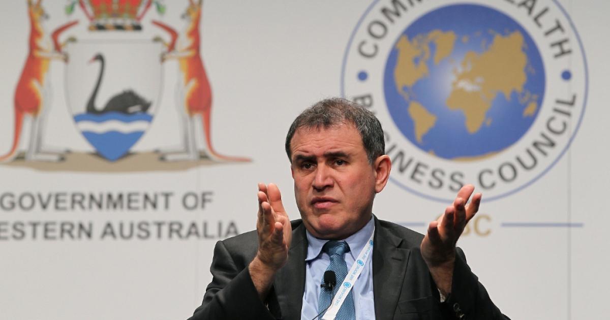 Economist Nouriel Roubini Oct. 25, 2011 in Perth, Australia.</p>