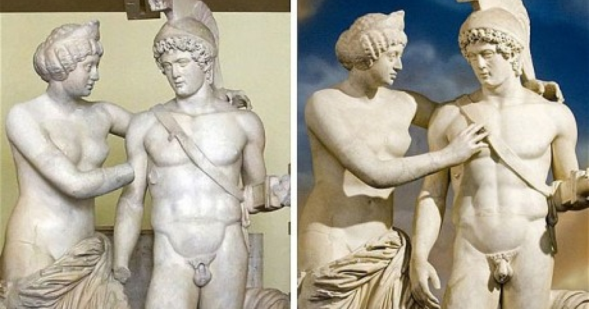 If only restoring real penises were this easy. This pair of Roman statues Mars and Venus, had been restored on the ex-the prime minister Berlussoni's orders at a cost of 70,000 euros. Thanks to Papa Silvio, Mars is now sporting a brand new penis and a new right hand.</p>