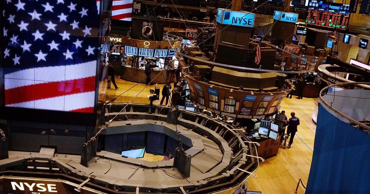 The floor of the New York Stock Exchange in New York City.</p>