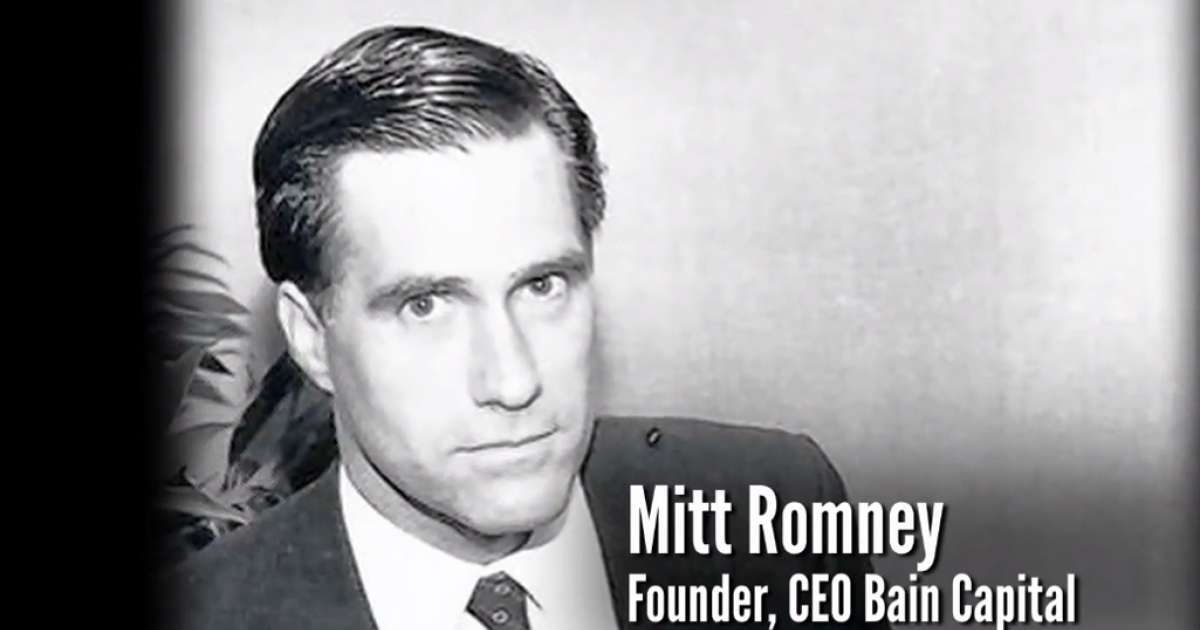 The Obama campaign launched an ad on May 14, 2012, attacking Republican rival Mitt Romney's tenure at Bain Capital.</p>