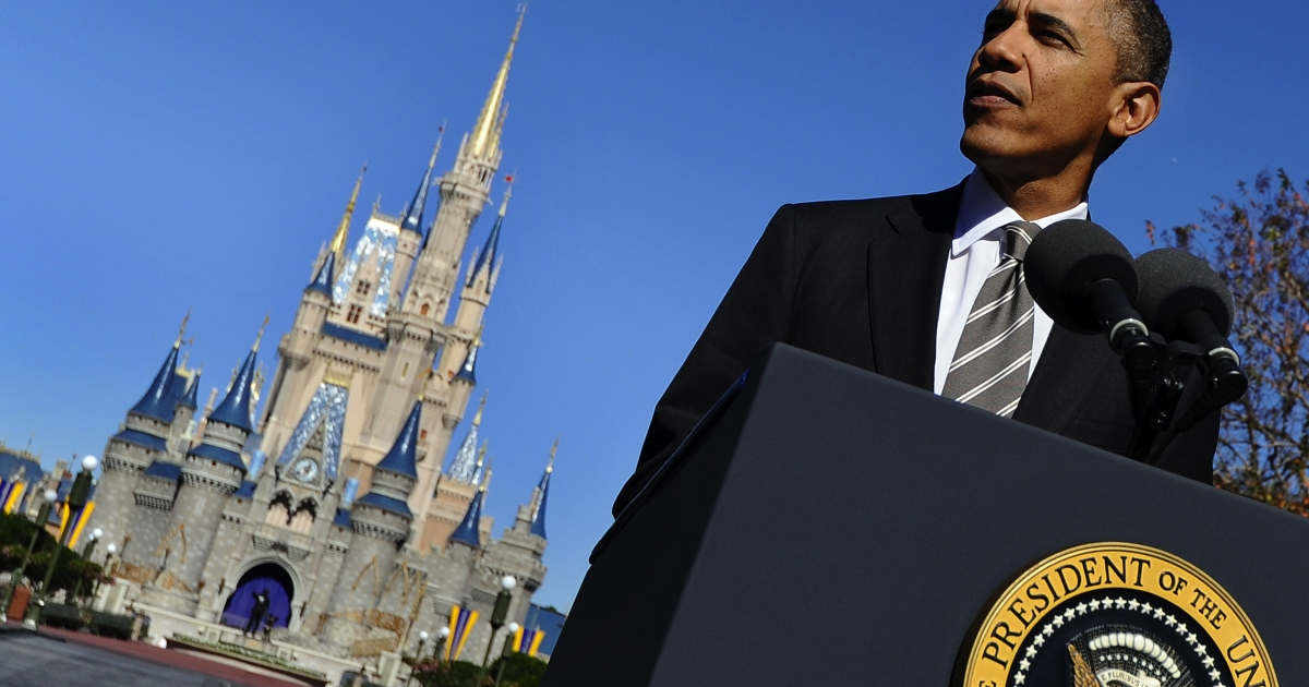 President Obama made an announcement at the Magical Kingdom on Thursday that he would boost tourism in the United States.</p>