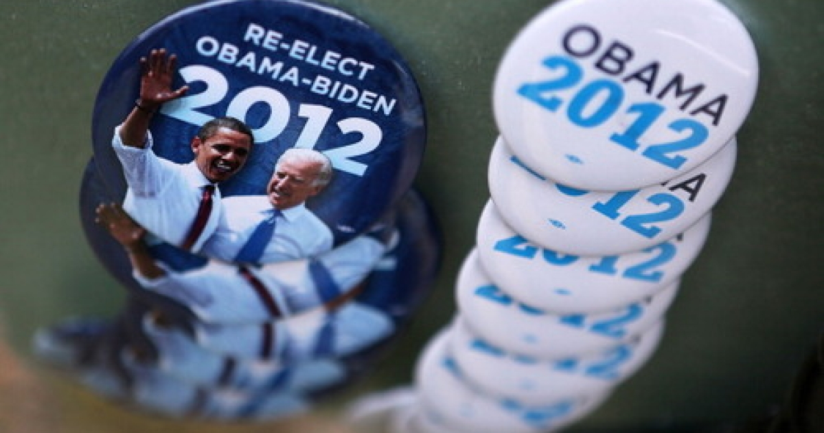 Campaign buttons are sold outside U.S. President Barack Obama's ''A Vision for Virginia's Middle Class'' campaign event July 14, 2012 at Walkerton Tavern in Glen Allen, Virginia. On Sunday, Obama made an uncharacteristic call for India to open its markets to US companies -- garnering mixed reviews here in New Delhi.</p>