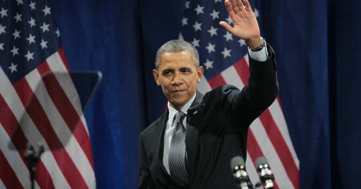 President Barack Obama is pictured at a rally in January. On Aug. 29, 2012, the president took questions live from users on the website Reddit.</p>