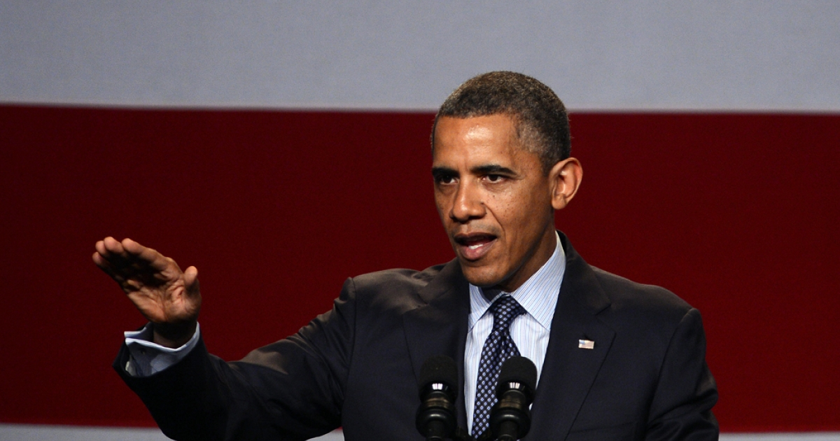 US President Barack Obama visited Ohio today, where he learned that he leads Republican Presidential hopeful Mitt Romney in some of the most important battlegrounds.</p>