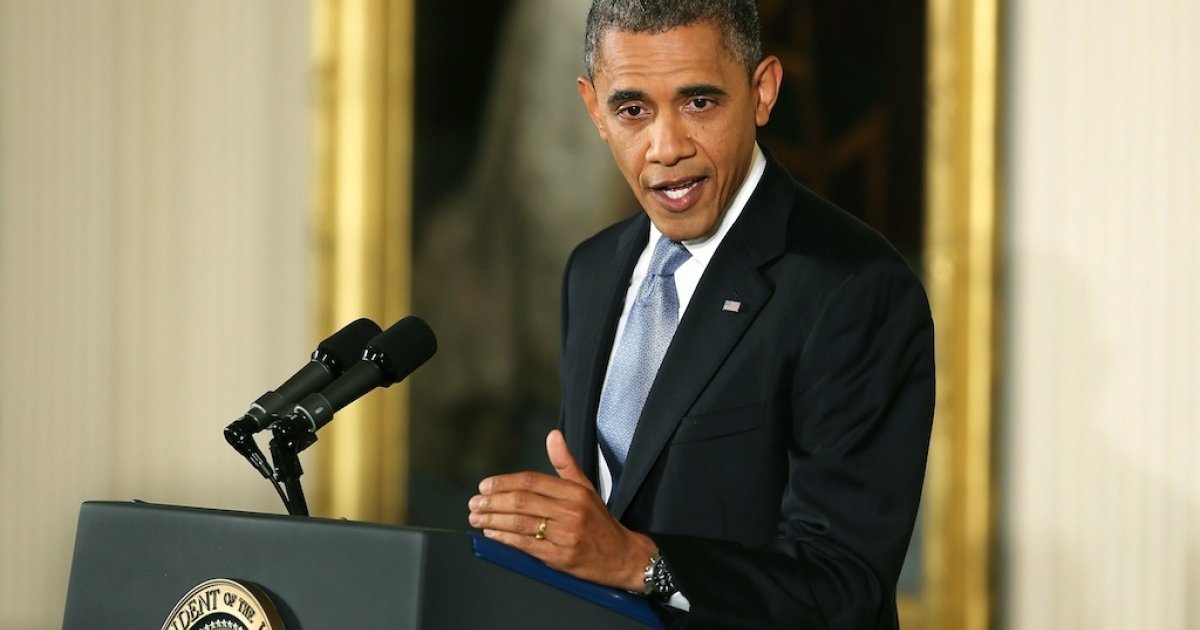 President Barack Obama addresses his first press conference since winning re-election on November 6.</p>