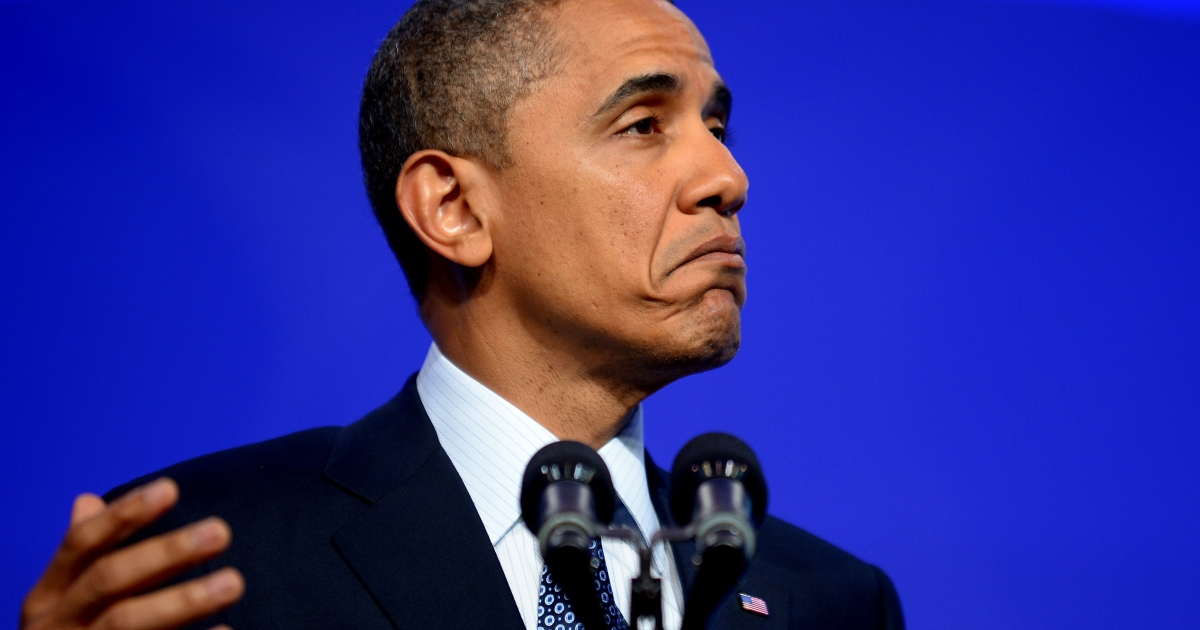 President Obama speaks today during the American Society of Newspaper Editors convention in Washington.</p>