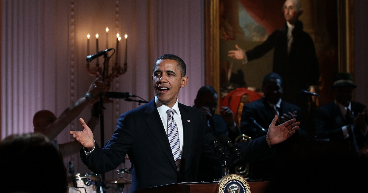 President Barack Obama speaks Tuesday at a White House event titled