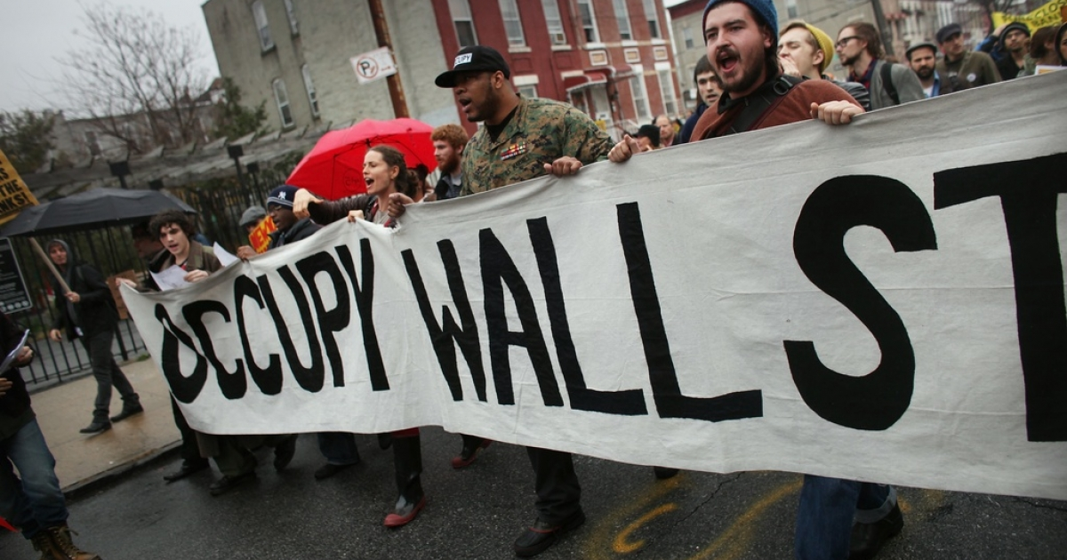 Occupy New York in the streets</p>
