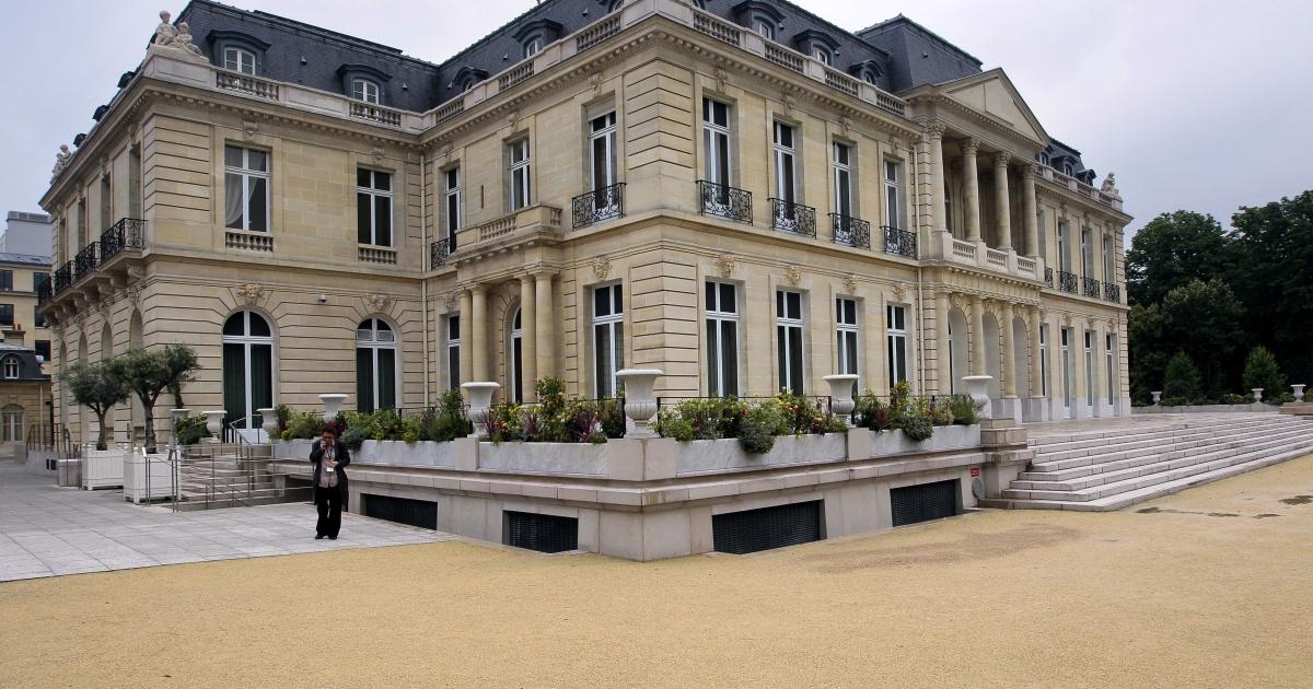 The Château de la Muette, OECD headquarters, in Paris, France.</p>