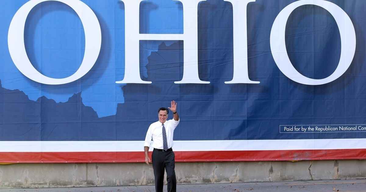 Republican presidential candidate Mitt Romney in Ohio on Oct. 25, 2012.</p>