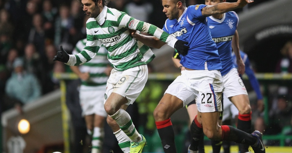 Action in the most recent Rangers-Celtic