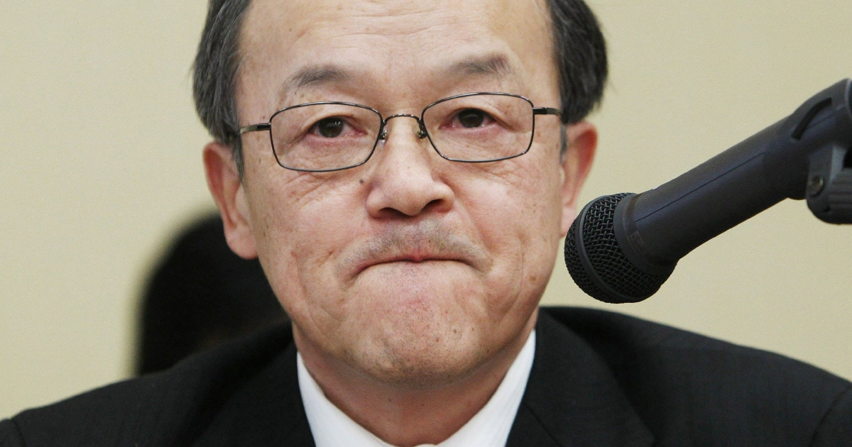 Olympus is itself suing current and former executives over the accounting scandal, including current President Shuichi Takayama (pictured), in a bid to reassure investors and possibly recover a tiny amount of the total losses wiped off the firm's books.</p>