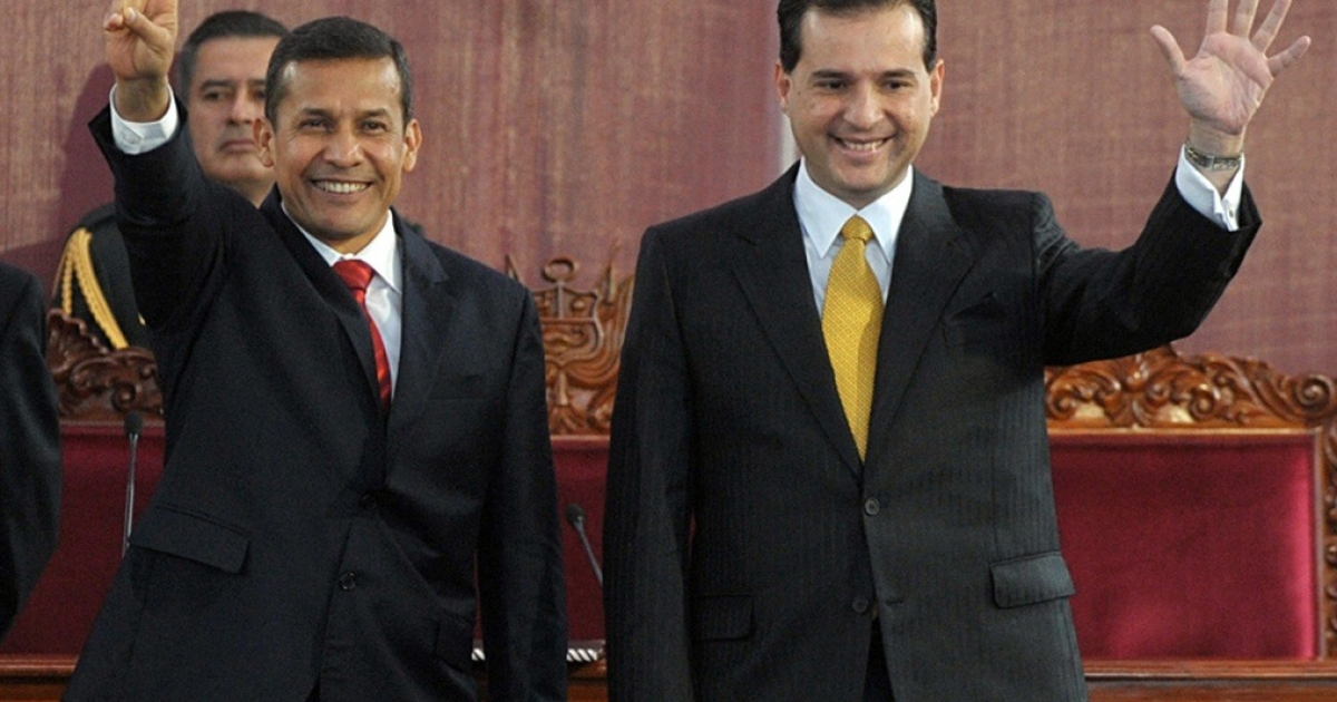 Omar Chehade, the former VP, on the right. Could his fall bring down the president?</p>