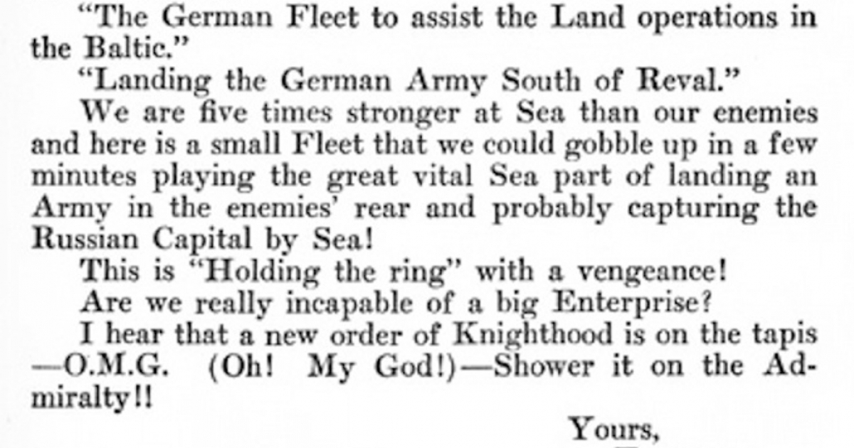 This 1917 letter to Winston Churchill contains the first documented use of the now-ubiquitous OMG!</p>