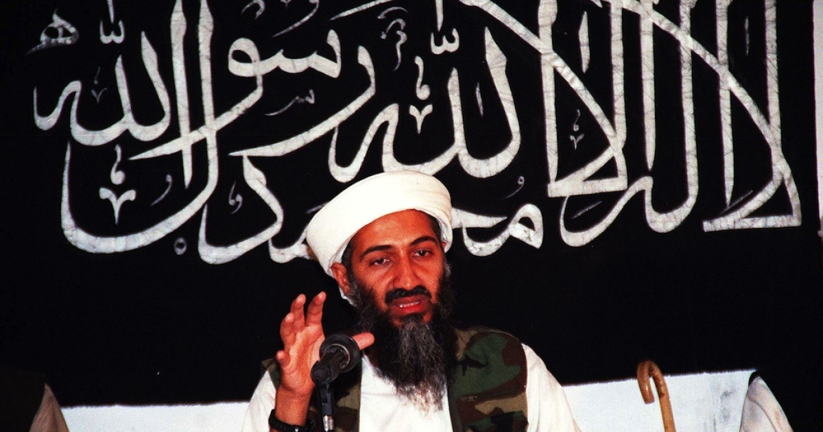 This undated file picture shows Osama bin Laden speaking at an undisclosed place inside Afghanistan.</p>