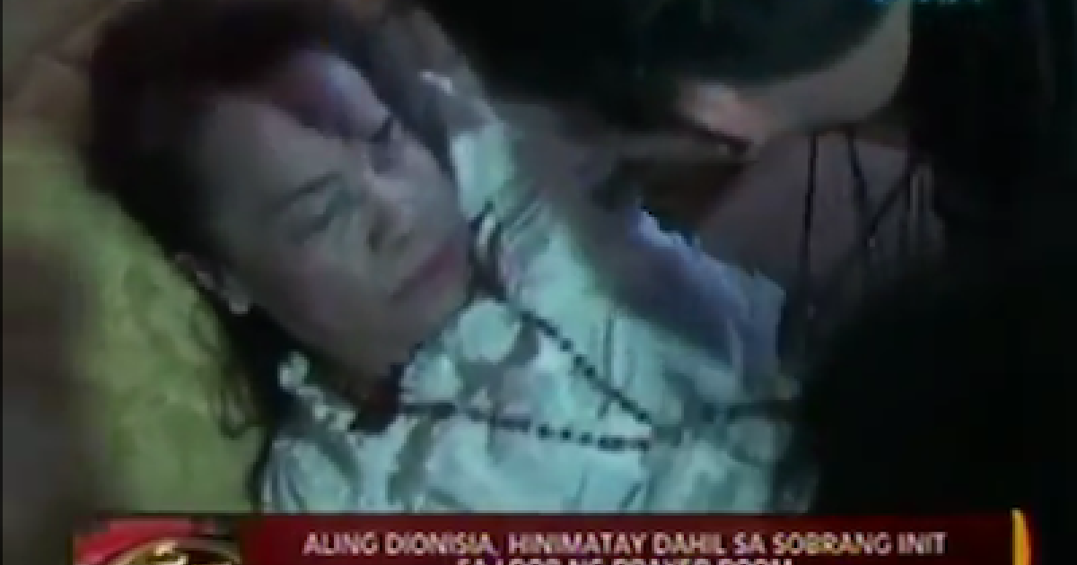 Aling Dionisia, mother of Filipino boxing phenomenon Manny Pacquiao, is seen fainting after learning of her son's loss to rival Tim Bradley in footage broadcast on Philippine station GMA TV News.</p>