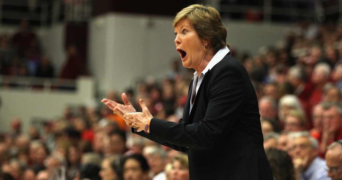 Tennessee Lady Volunteers head coach Pat Summitt during a game against the Stanford Cardinals at Maples Pavilion in Palo Alto, Calif., on Dec. 20, 2011.</p>