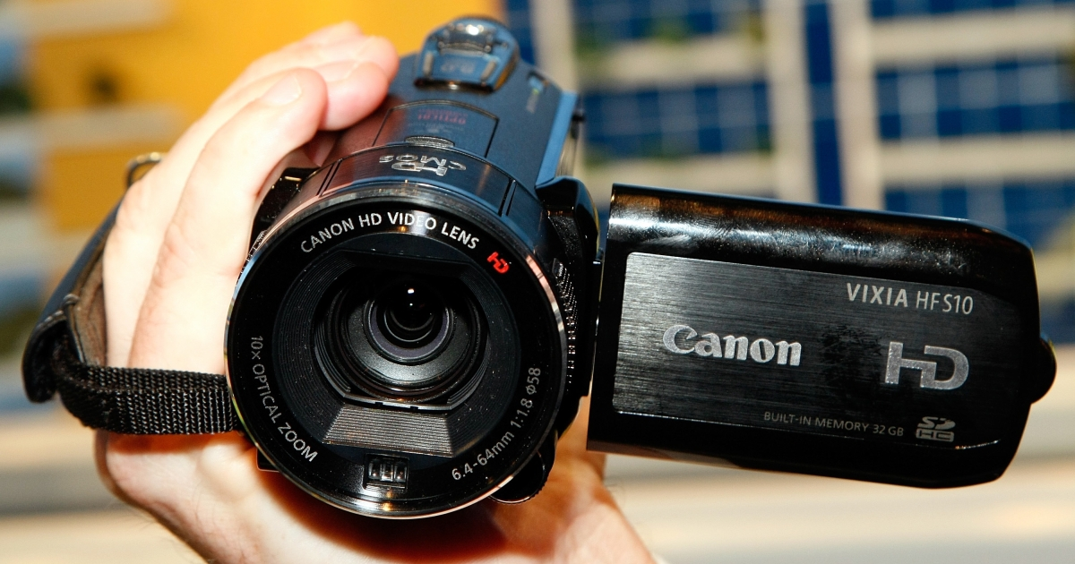 A high definition camcorder at the 2009 International Consumer Electronics Show at the Las Vegas Convention Center in Las Vegas, Nev., on Jan. 9, 2009.</p>