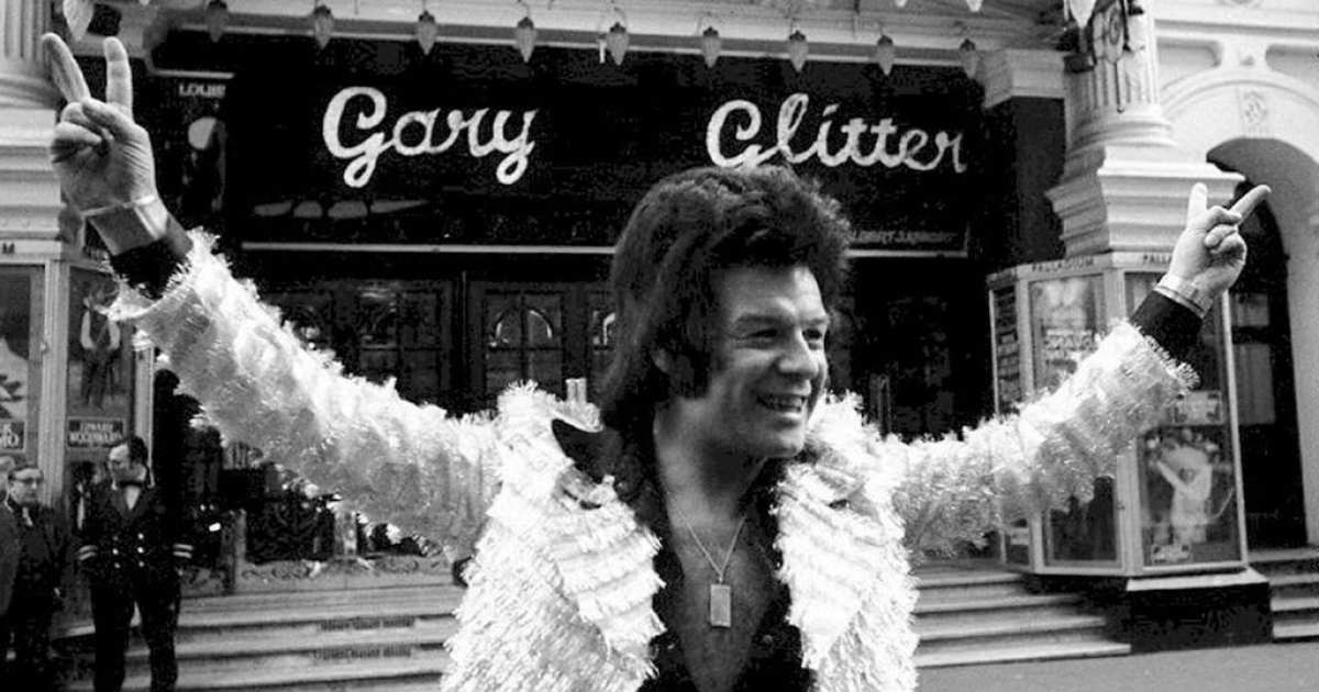 This file photo dated 21 January, 1973 shows British pop star Gary Glitter in London. The singer, real name Paul Gadd, has been arrested in connection with allegations of child abuse by late BBC presenter Jimmy Savile.</p>
