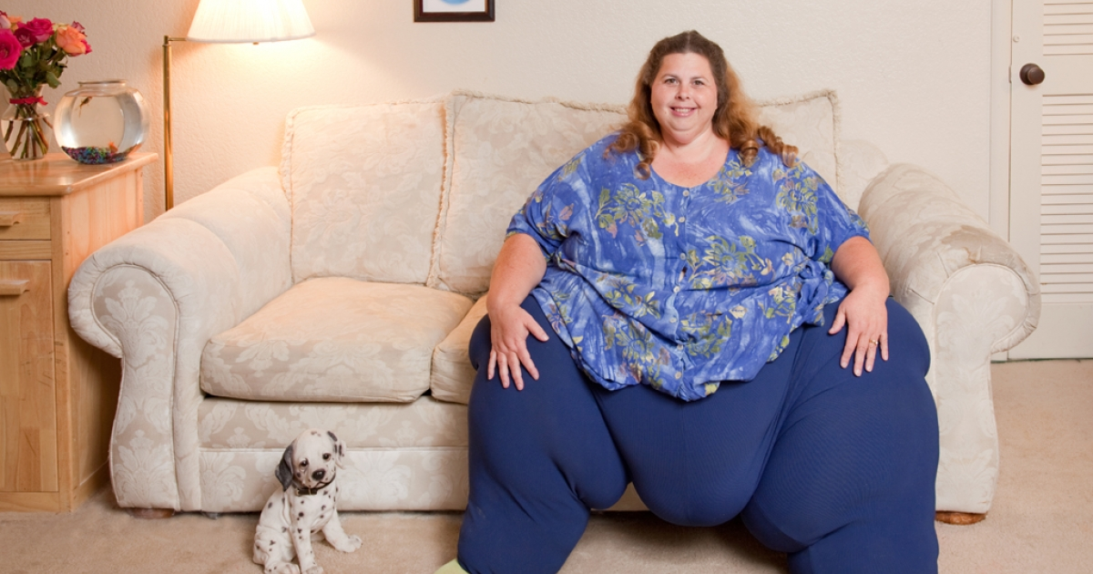 Pauline Potter became the world's heaviest living woman last year, weighing in at 643 pounds.</p>
