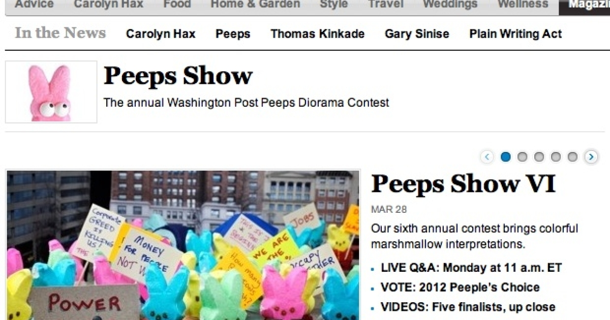 The Washington Post hosts one of the US' most popular Peeps contests.</p>