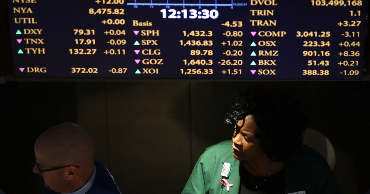 Traders on Dec. 20, 2012 in New York City, NY.</p>