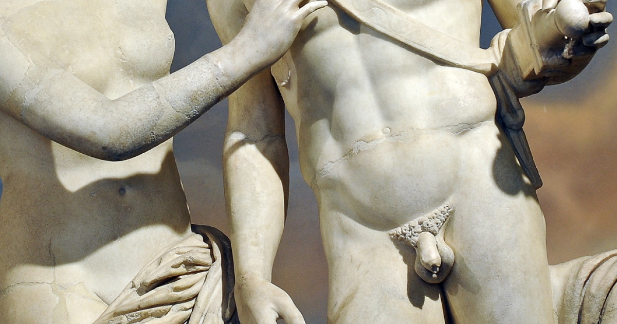 A Roman statue of Venus and Mars is displayed at Prime Minister Silvio Berlusconi's office on Nov. 18, 2010 after being restored. Mars got a new penis and Venus a new hand under orders from the Italian leader.</p>