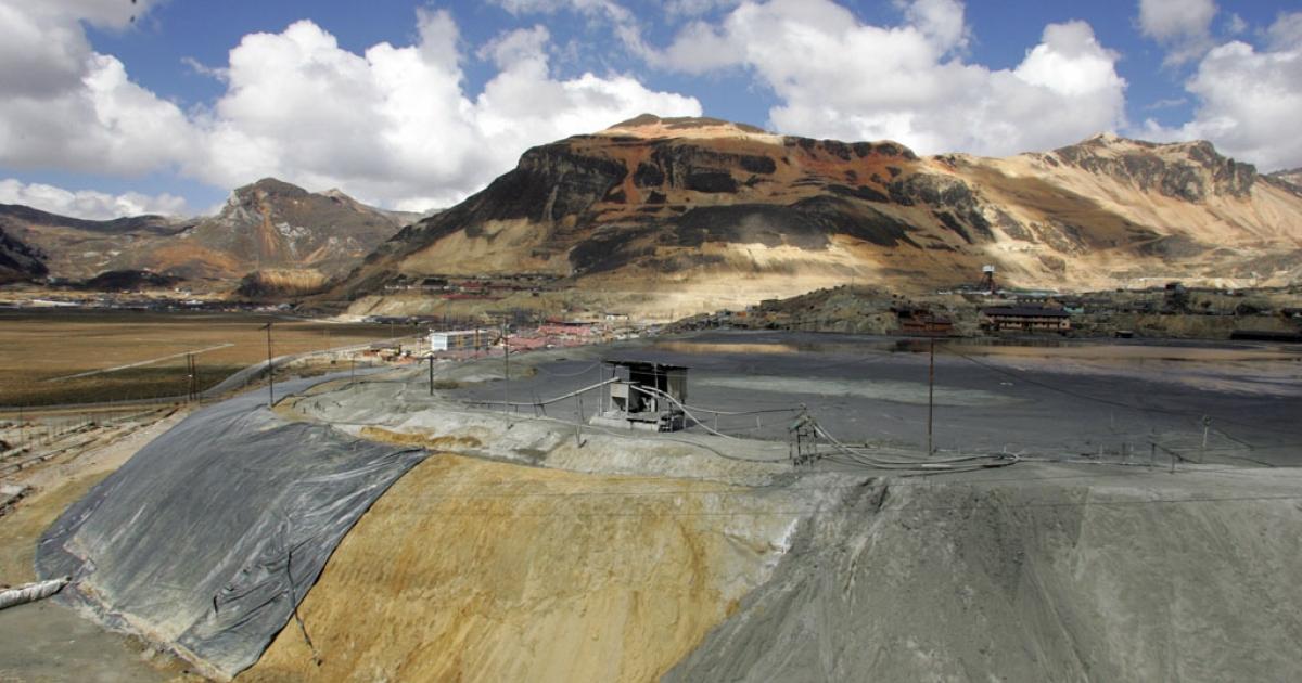 Mining waste in Morococha, Peru.</p>