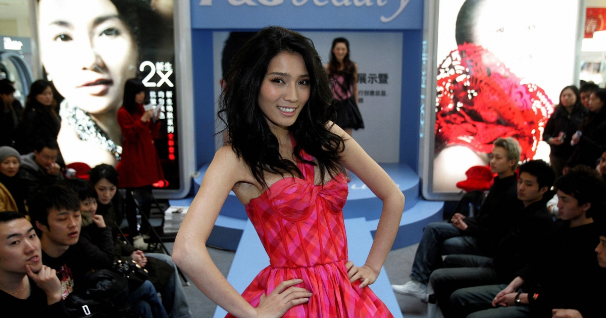 A model at a beauty products event for Procter &amp; Gamble in Beijing, China, on Feb. 4, 2007.</p>