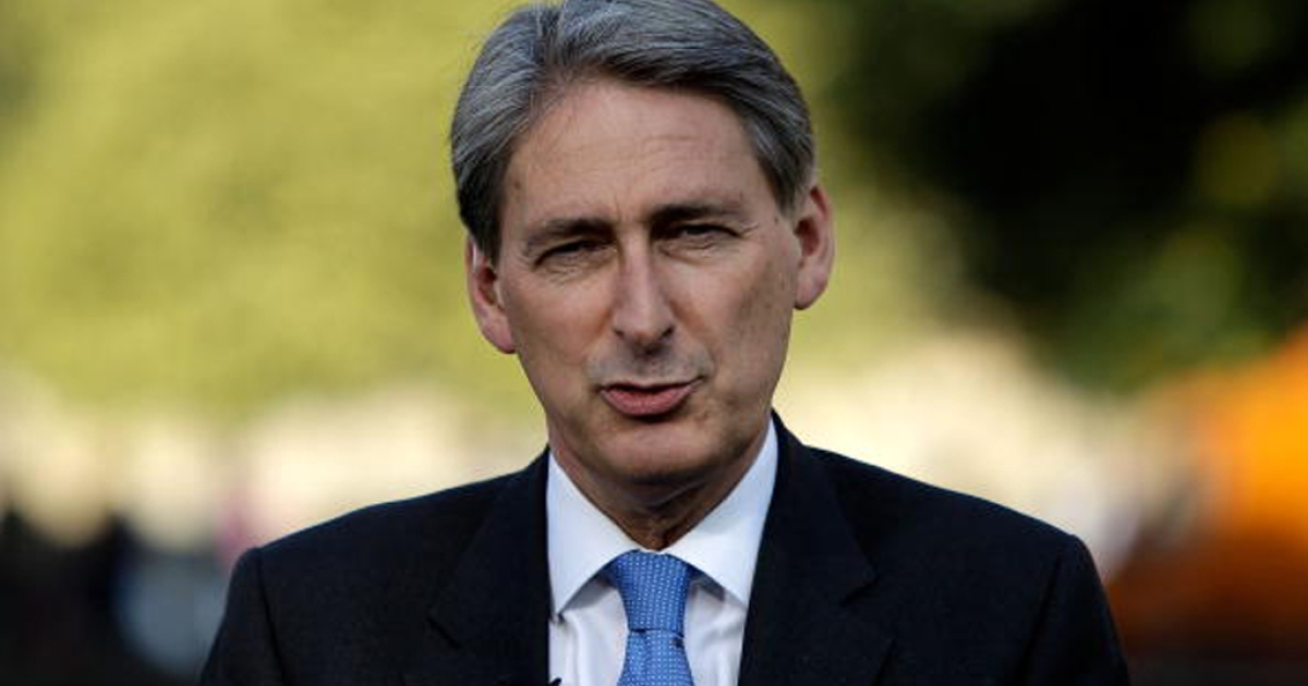 Philip Hammond has been appointed the new U.K. defense secretary.  He is shown here talking to the media on College Green outside the Houses of Parliament on October 8, 2010, in London, England.</p>