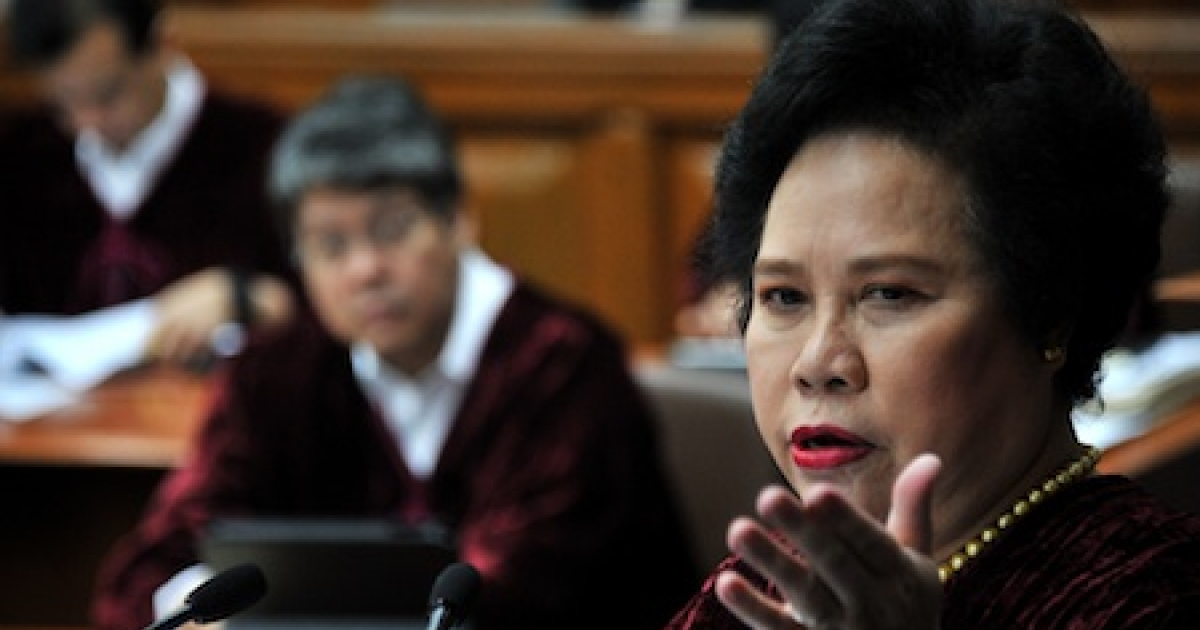 Miriam Defensor-Santiago, a senator and veteran lawmaker in the Philippines.</p>