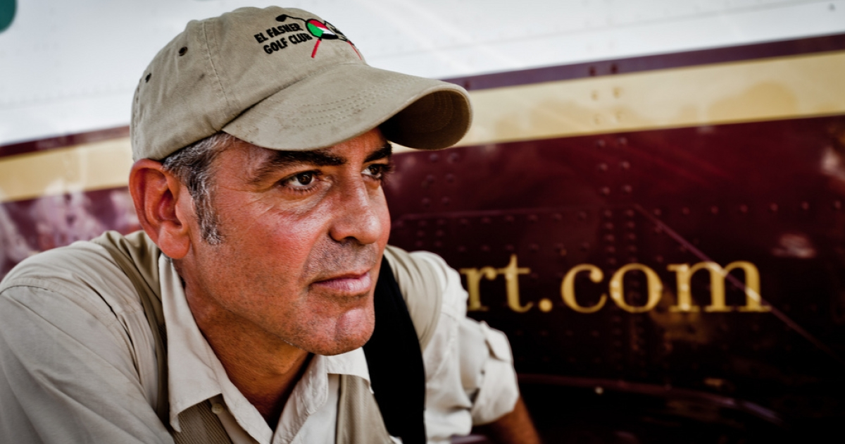 George Clooney in South Sudan in October 2010.</p>