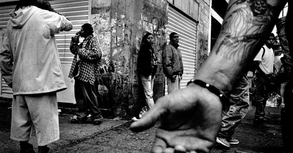 Drug abusers huff glue and inhalants while dealers ply their trade on the streets of Tepito, Mexico City&#039;s toughest neighborhood. Drug cartels now control Tepito.</p>