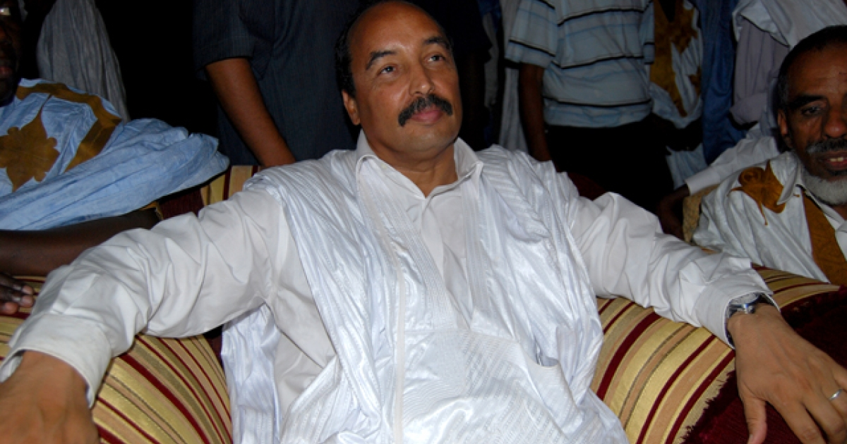 Mauritanian President Mohamed Ould Abdel Aziz after winning the July 19, 2009, presidential election with 52 percent of the vote.</p>
