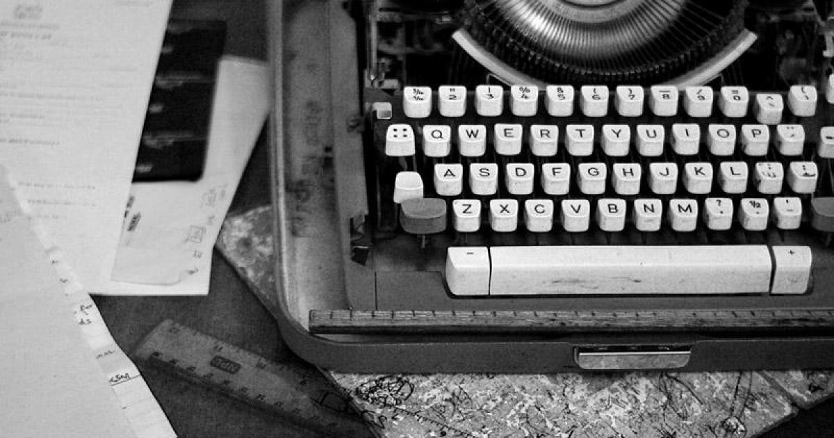 The one working typewriter completes two pages per hour. (Ian MacLellan/GlobalPost)</p>
