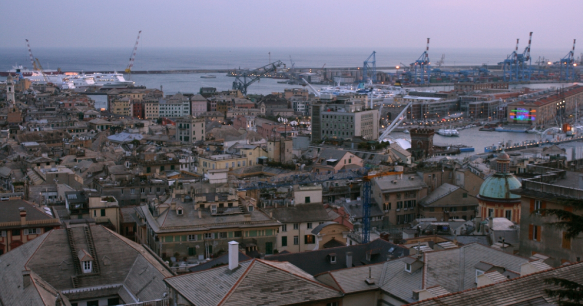 The Italian coastal city of Genoa where police cameras seem to work rather well.</p>